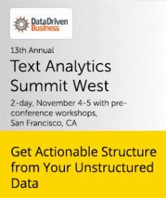 Text Analytics Summit, Nov 4-5, 2014, San Francisco