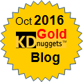 Top KDnuggets Blogger, Gold for Oct 2016