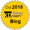 Top KDnuggets Blogger, Silver for Oct 2016