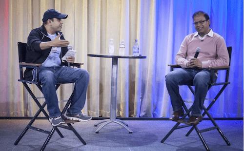 Karl Mehta talking to Amit Singhal