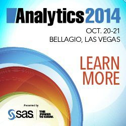 Analytics 2014, Las Vegas, Oct 20-21