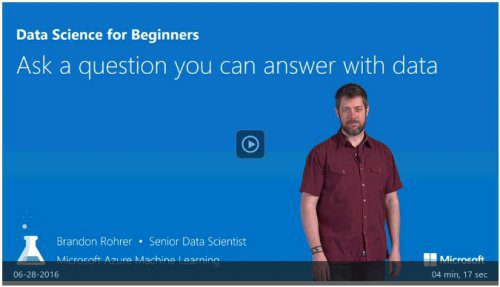 KDnuggets Data Science for Beginners: Fantastic Introductory Video Series from Microsoft