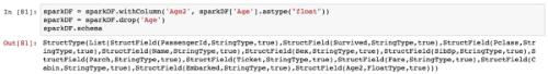 Spark dataframe types