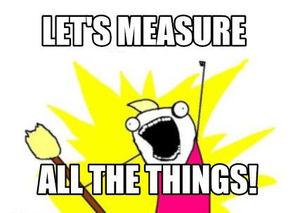 Measure all the things!