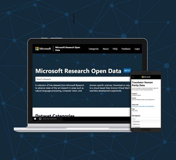 Announcing Microsoft Research Open Data, a cloud hosted platform for sharing datasets