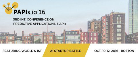 KDnuggets PAPIs 16 Conference on Predictive Applications & APIs, Oct 10-12, Boston