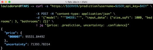 Prediction model via REST API