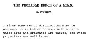 The Probable error of a mean