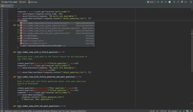 PyCharm smart assistance