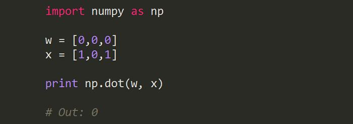 Python code dot product