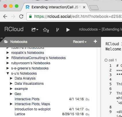 RCloud – DevOps for Data Science