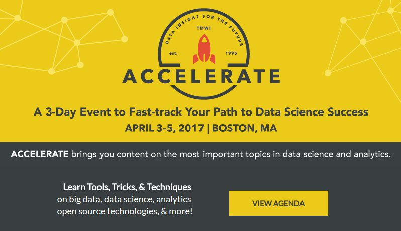 Learn Tools, Tricks & Techniques of Data Science in Boston, Apr 3-5