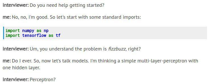 TensorFlow FizzBuzz