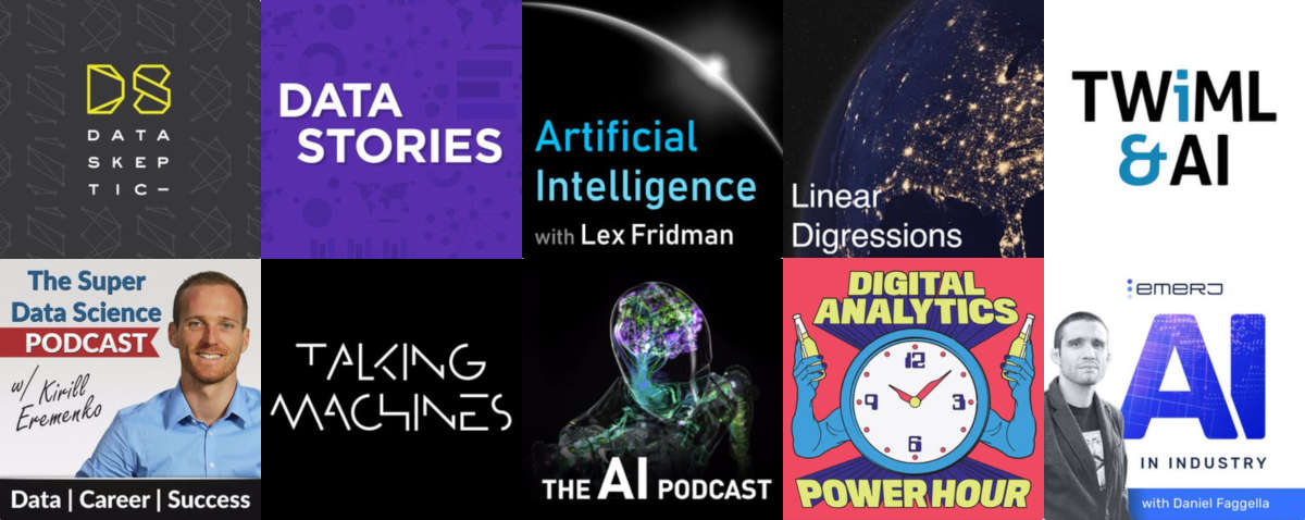 Top 10 Best Podcasts on AI, Analytics, Data Science, Machine