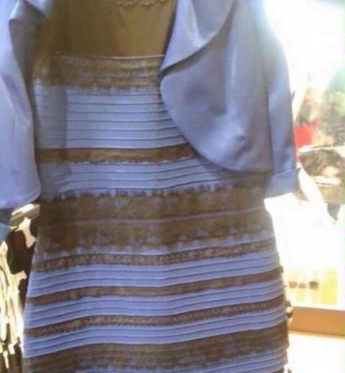 White and gold dress... or is it blue and black?