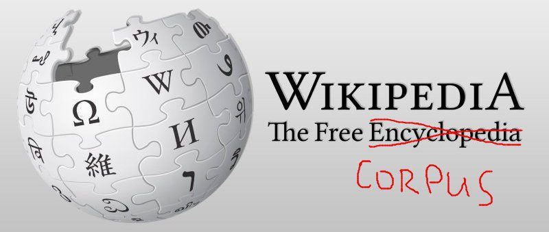 Building a Wikipedia Text Corpus for Natural Language Processing